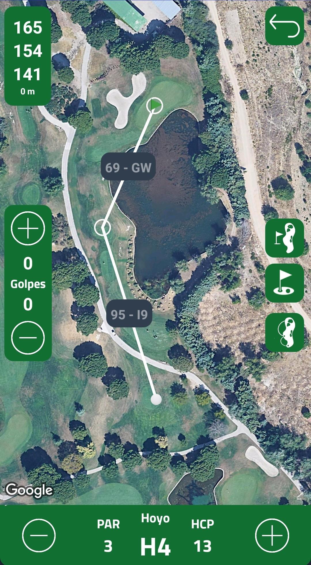 Distancias GPS campos de golf
