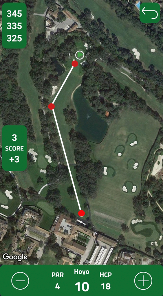Mapa campos de golf